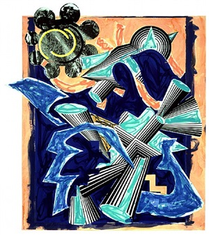 illustrations after el lissitzky's 'had gadya' b. had gadya: back cover by frank stella