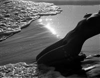 nu d la plage, camarque by lucien clergue