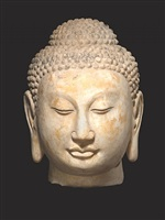 china, buddha head, northern qi