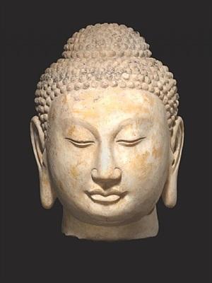 china, buddha head, northern qi