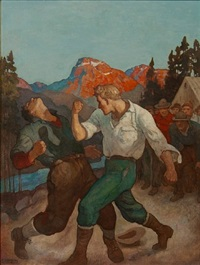 panther swift, jim lashed out with his right and caught the protruding jaw by newell convers wyeth