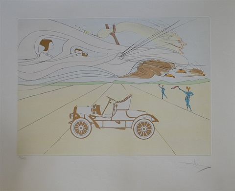 l'automobile by salvador dalí