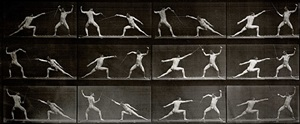 fencers, from human and animal locomotion by eadweard muybridge