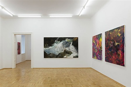 exhibition view <br />galerie nächst st. stephan by herbert brandl