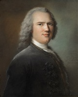 portrait de gentilhomme en buste by jean marc nattier