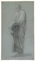 étude de personnage pour 'cornélie mère des gracques' by joseph benoit suvée