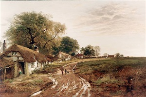 <i>sunshine after rain</i> by benjamin williams leader