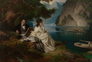 leasure time by the königssee, berchtesgadener land (bavaria) by ludwig thiersch