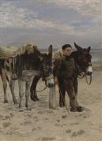 summer at the beach in heist by jan frans verhas
