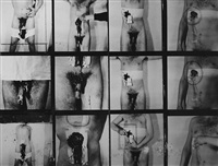 aktionsfoto, 10. aktion, wien 1965 by hermann nitsch