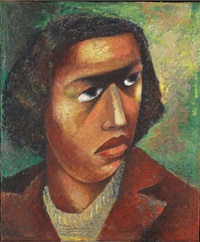 head of woman by elizabeth catlett