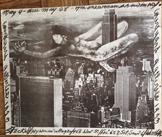 new york women collages-nude steckel above the ny skyline by anita steckel