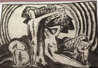 two sided drawing by béla kádár