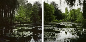 fullmoon@giverny (diptych) by darren almond