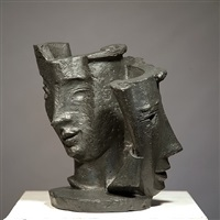 groupe de deux masques / group of two masks by morice lipsi