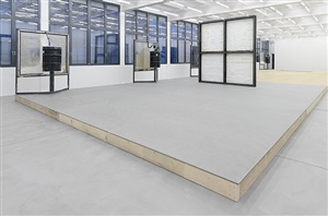 a home, exhibition view ix by oscar tuazon
