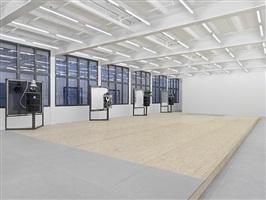 a home, exhibition view x by oscar tuazon