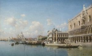 the doge's palace and santa maria della salute by federico del campo