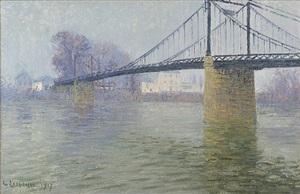 le pont suspendu à triel by gustave loiseau