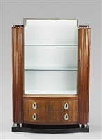meuble vitrine en acajou et placage d'acajou by christian krass