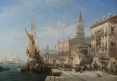 riva degli schiavoni by william wyld
