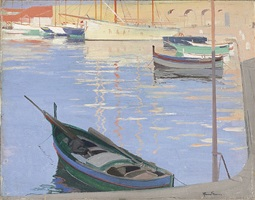harbour in the côte d'azur by herbert james gunn