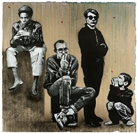jean-michel, keith, andy et marc by jef aerosol