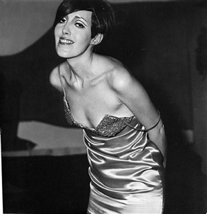 girl in a shiny dress, nyc by diane arbus