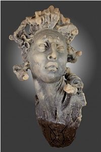 cabeza de mujer sin mono by javier marin