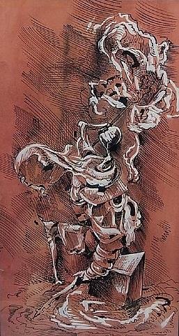 surrealist figure by kurt seligmann