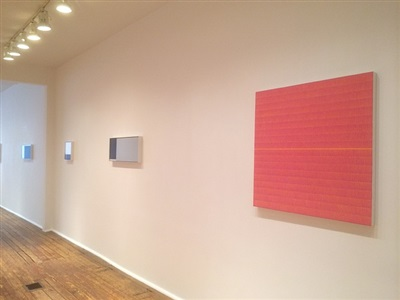 in daylight small paintings: installation view: anna bogatin & martha groome checklist numbers 25., 26. and 27. [from right to left]