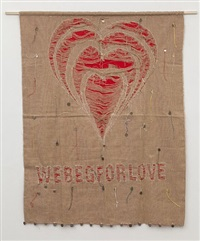 glue me peace - we beg for love by meschac gaba