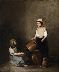les petites récureuses (the little scrubbers) by théodule ribot