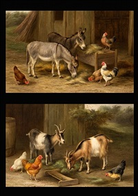 farmyard friends (a pair) by edgar hunt