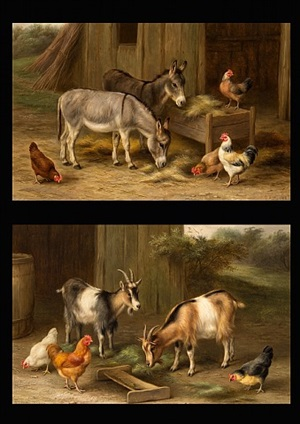 farmyard friends (a pair) by edgar hunt