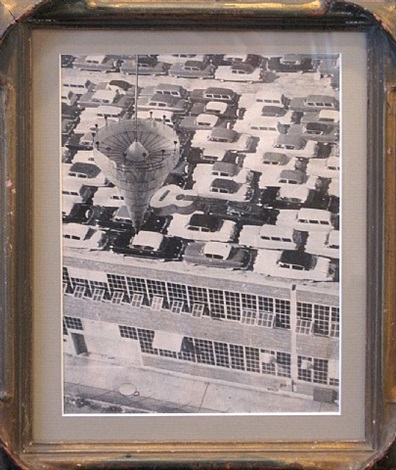 untitled (cars on rooftop), illustration for caesar's gate (moving in your sights) by jess