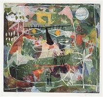 katze im blumenfeld by yoshi takahashi