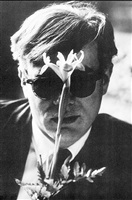 andy warhol (with flower smiling) by dennis hopper