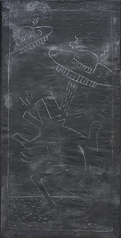 untitled (space ships) by keith haring