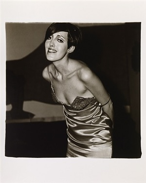 girl in shiny dress by diane arbus