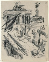 brandenburger tor by lovis corinth