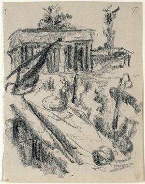 brandenburger tor by lovis corinth