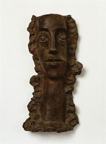 femme aux cheveux longs revenant sur la poitrine by andré derain