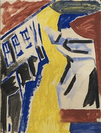 bargee and canal bank by david bomberg
