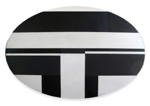 black and white ellipse by ilya bolotowsky