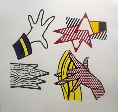 study of hands by roy lichtenstein