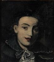 portrait de jeune fille sur fond noir by andré derain