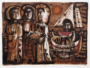 les saintes-maries by antoni clavé sanmartin
