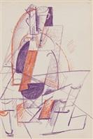 personnage cubiste by otto gutfreund