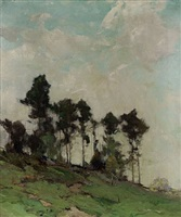 hillside with trees by chauncey foster ryder